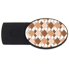 Fabric Texture Geometric Usb Flash Drive Oval (4 Gb)