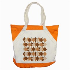 Fabric Texture Geometric Accent Tote Bag