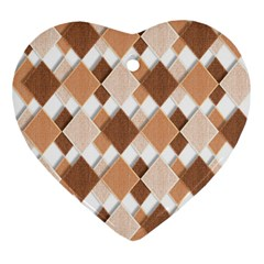 Fabric Texture Geometric Heart Ornament (two Sides)