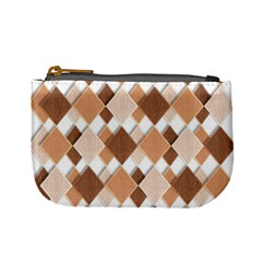 Fabric Texture Geometric Mini Coin Purses