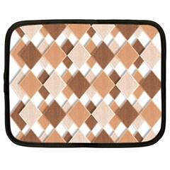 Fabric Texture Geometric Netbook Case (xxl)