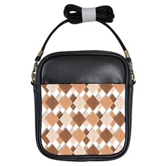 Fabric Texture Geometric Girls Sling Bags