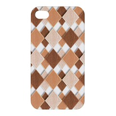 Fabric Texture Geometric Apple Iphone 4/4s Hardshell Case
