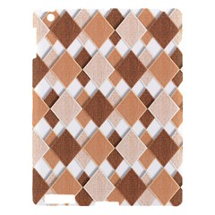 Fabric Texture Geometric Apple Ipad 3/4 Hardshell Case