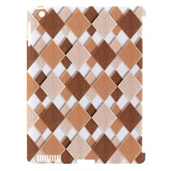 Fabric Texture Geometric Apple Ipad 3/4 Hardshell Case (compatible With Smart Cover)