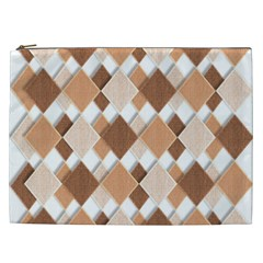 Fabric Texture Geometric Cosmetic Bag (xxl)