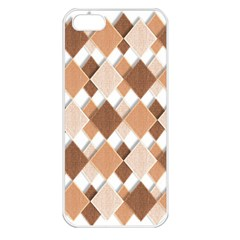 Fabric Texture Geometric Apple Iphone 5 Seamless Case (white)