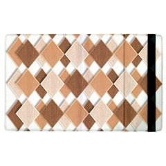 Fabric Texture Geometric Apple Ipad 3/4 Flip Case