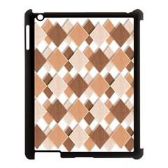 Fabric Texture Geometric Apple Ipad 3/4 Case (black)