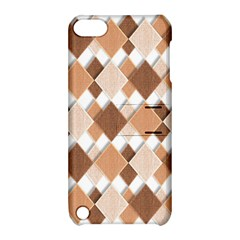 Fabric Texture Geometric Apple Ipod Touch 5 Hardshell Case With Stand