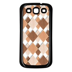 Fabric Texture Geometric Samsung Galaxy S3 Back Case (black)