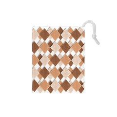 Fabric Texture Geometric Drawstring Pouches (small)
