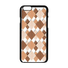 Fabric Texture Geometric Apple Iphone 6/6s Black Enamel Case by Nexatart