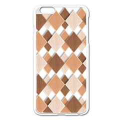 Fabric Texture Geometric Apple Iphone 6 Plus/6s Plus Enamel White Case