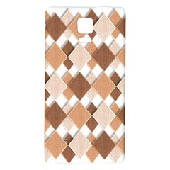 Fabric Texture Geometric Galaxy Note 4 Back Case