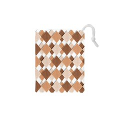 Fabric Texture Geometric Drawstring Pouches (xs)