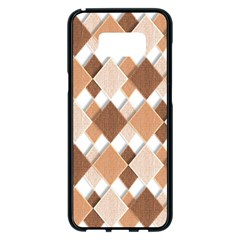 Fabric Texture Geometric Samsung Galaxy S8 Plus Black Seamless Case