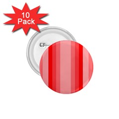 Red Monochrome Vertical Stripes 1 75  Buttons (10 Pack)
