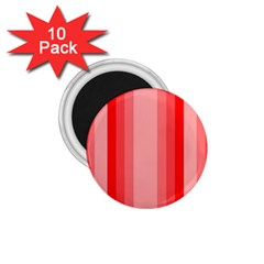 Red Monochrome Vertical Stripes 1 75  Magnets (10 Pack)