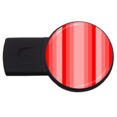 Red Monochrome Vertical Stripes Usb Flash Drive Round (2 Gb)