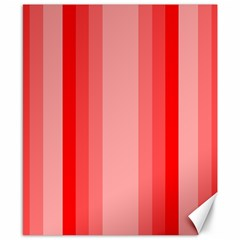 Red Monochrome Vertical Stripes Canvas 8  X 10
