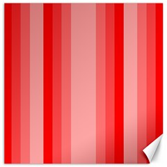Red Monochrome Vertical Stripes Canvas 16  X 16