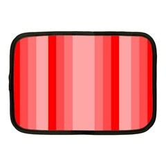 Red Monochrome Vertical Stripes Netbook Case (medium)