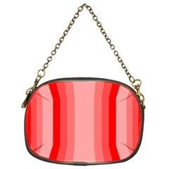 Red Monochrome Vertical Stripes Chain Purses (one Side)