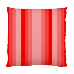 Red Monochrome Vertical Stripes Standard Cushion Case (one Side)