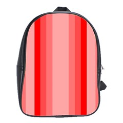 Red Monochrome Vertical Stripes School Bag (large)