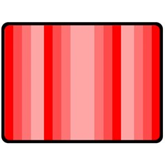 Red Monochrome Vertical Stripes Fleece Blanket (large)