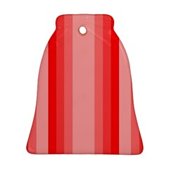 Red Monochrome Vertical Stripes Bell Ornament (two Sides)