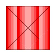 Red Monochrome Vertical Stripes Acrylic Tangram Puzzle (6  X 6 )