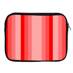 Red Monochrome Vertical Stripes Apple Ipad 2/3/4 Zipper Cases by Nexatart