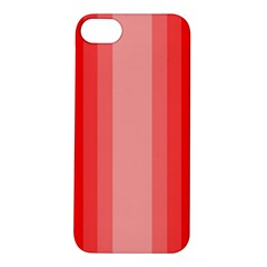 Red Monochrome Vertical Stripes Apple Iphone 5s/ Se Hardshell Case