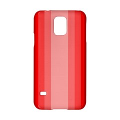 Red Monochrome Vertical Stripes Samsung Galaxy S5 Hardshell Case