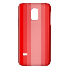 Red Monochrome Vertical Stripes Galaxy S5 Mini