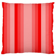 Red Monochrome Vertical Stripes Standard Flano Cushion Case (one Side)