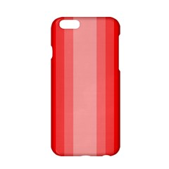 Red Monochrome Vertical Stripes Apple Iphone 6/6s Hardshell Case