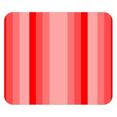 Red Monochrome Vertical Stripes Double Sided Flano Blanket (small)