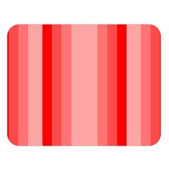 Red Monochrome Vertical Stripes Double Sided Flano Blanket (large)