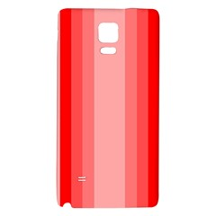 Red Monochrome Vertical Stripes Galaxy Note 4 Back Case