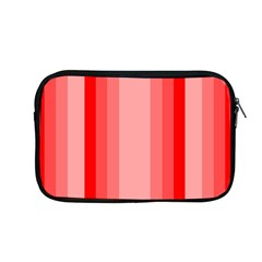 Red Monochrome Vertical Stripes Apple Macbook Pro 13  Zipper Case by Nexatart