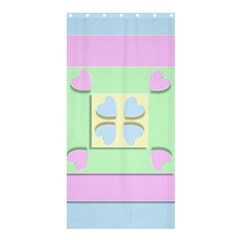 Hearts 3d Decoration Design Love Shower Curtain 36  X 72  (stall)