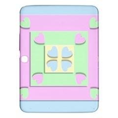 Hearts 3d Decoration Design Love Samsung Galaxy Tab 3 (10 1 ) P5200 Hardshell Case