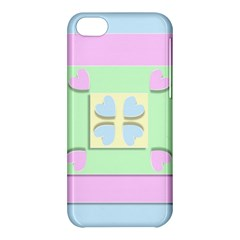 Hearts 3d Decoration Design Love Apple Iphone 5c Hardshell Case
