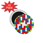 Geometric Maze Chaos Dynamic 1.75  Magnets (10 pack)  Front