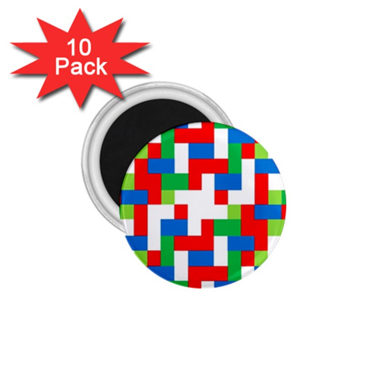 Geometric Maze Chaos Dynamic 1.75  Magnets (10 pack)