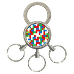 Geometric Maze Chaos Dynamic 3 Ring Key Chains