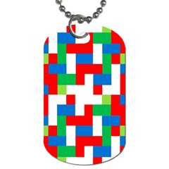 Geometric Maze Chaos Dynamic Dog Tag (two Sides)